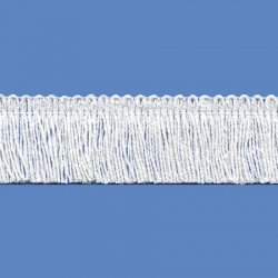 <strong>P262/1</strong> - Cotton Fringes/ White - wide 2,5cm