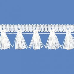<strong>N32/ 1</strong> - Cotton Tassel Fringe/ White