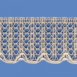 <strong>857/ 0</strong> - Lace Trimming Milenium/ Natural - Wide 4,5cm