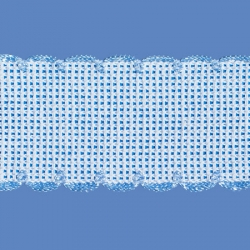 <strong>842/ 4</strong> - Cross stitch fabric/ sky blue