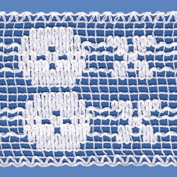 <strong>822/ 1</strong> - Cotton Lace Trimming/ White - Wide 9,5cm