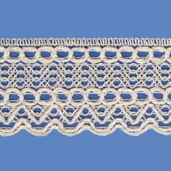 <strong>816/ 0</strong> - Cotton Lace Trimming/ Natural - Wide 4,5cm