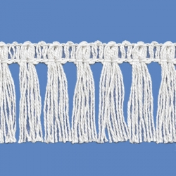 <strong>P261/ 1</strong> - Cotton Fringes/ White - Wide 4cm