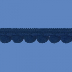 <strong>D34/ 29</strong> - Mini Pom Pom Loop Fringe/ Air Force Blue