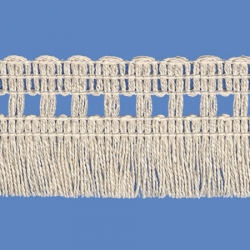 <strong>262/ 0</strong> - Cotton Fringes/ Natural - Wide 4cm