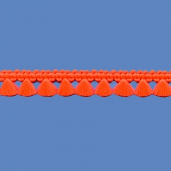 <strong>P34/7</strong> - Fringes polyester fluo/ Orange fluo