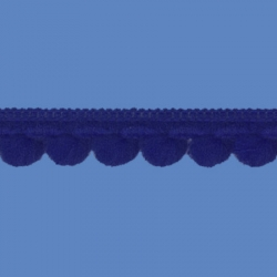 <strong>D34/ 11</strong> - Mini Pom Pom Loop Fringe/ Royal Blue