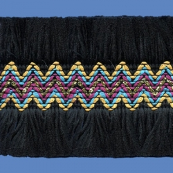 <strong>O81/ 2</strong> - Upper Zig Zag Polyester/ Black