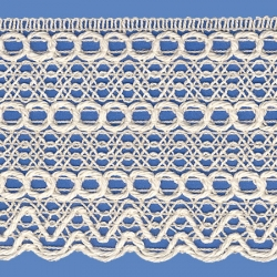 <strong>815/ 0 </strong> - Cotton Lace Trimming/ Natural - Wide 7cm