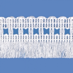 <strong>262/ 1</strong> - Cotton Fringes/ White - Wide 4cm