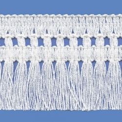 <strong>261/ 1</strong> - Cotton Fringes/ White - Wide 6cm