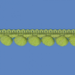 <strong>D34/ 34</strong> - Mini Pom Pom Loop Fringe/ Apple Green