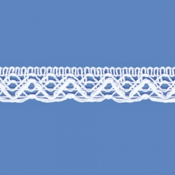 <strong>502/ 1</strong> - Lace Trimming Ojito/ White - Wide 2cm