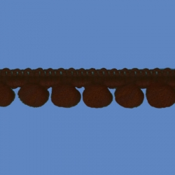 <strong>D34/ 8</strong> - Mini Pom Pom Loop Fringe/ Dark Brown