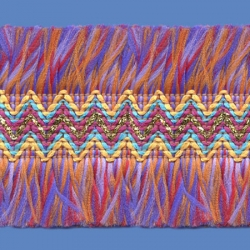 <strong>O81/ 51</strong> - Upper Zig Zag Polyester/ Multicolored
