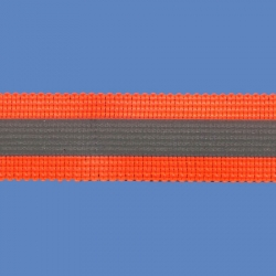 <strong>RE 3/ 7</strong> - Fluorescent Reflective Ribbon/ Orange