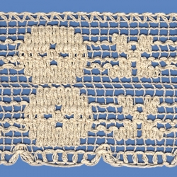 <strong>823/ 0</strong> - Cotton Lace Trimming/ Natural - Wide 9,5cm
