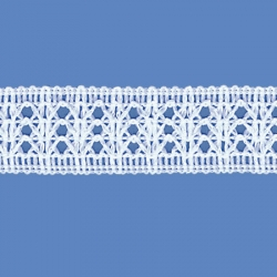 <strong>R5/ 1</strong> - Lace Trimming Milenium/ White - Wide 2,5cm