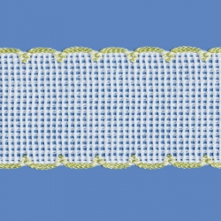 <strong>842/ 20</strong> - Cross stitch fabric/ Baby yellow