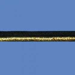 <strong>X11/2/81</strong> - Cord trim lame/ Black-Gold