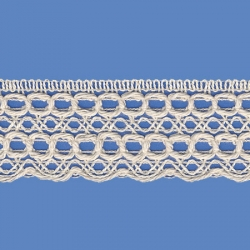 <strong>817/ 0</strong> - Cotton Lace Trimming/ Natural - Wide 3,5cm