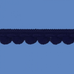 <strong>D34/ 5</strong> - Mini Pom Pom Loop Fringe/ Blue