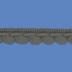 <strong>D34/ 18</strong> - Mini Pom Pom Loop Fringe/ Grey