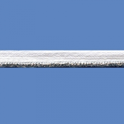 <strong>X11/1/82</strong> - Cord trim lame/ White-Silver