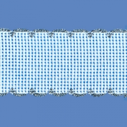<strong>842/ 82</strong> - Cross stitch fabric/ Silver