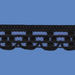 <strong>K880/ 2</strong> - Polyester Lace Trimming Malta/ Black