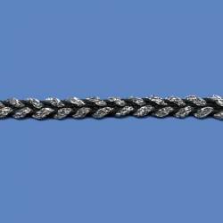 <strong>J354T/2/82</strong> - Double trim lame/ Black-Silver