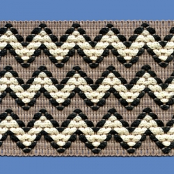 <strong>H734/ 2/33</strong> - Zig zag/ Black/ Butter