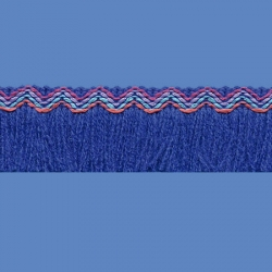 <strong>N33/ 11</strong> - Inca Fringes acrylic/ Royal blue