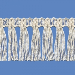 <strong>P261 /0</strong> - Cotton Fringes/ Natural - Wide 4cm
