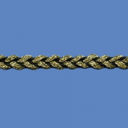 <strong>J354T/2/81</strong> - Double trim lame/ Black-Gold