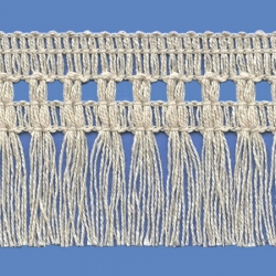 <strong>P261/ 0</strong> - Cotton Fringes/ Natural - Wide 6cm