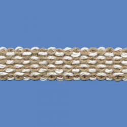 <strong>O71/ 0/88</strong> - Narrow Lace Zig Zag / Jute/ Natural